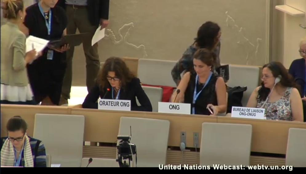 Kseniya Kirichenko, az ILGA képviselőjének felszólalása az ENSZ-ben, 2017. június 9.